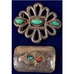 Two Belt Buckles