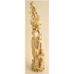 Chinese Ivory figure of Mother and Child