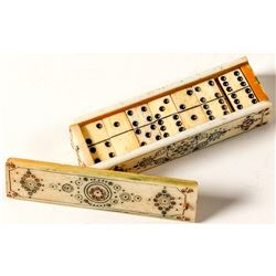 Antique Mexican Bone Domino set