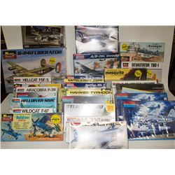 Model Airplanes and Helicopters in Original Sealed Boxes