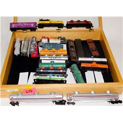 HO Rolling Stock mixed lot tank, flat cars