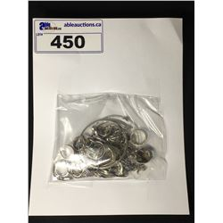 PLASTIC BAG CONTAINING NUMEROUS STERLING SILVER AND 800 SILVER JEWELLERY PIECES, BRACELETS AND