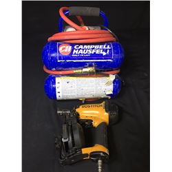 CAMPBELL HAUSFELD 100 PSI AIR COMPRESSOR & BOSTITCH NAIL GUN
