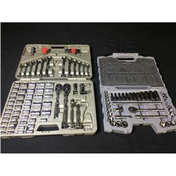 PAIR OF SOCKET SETS (90% COMPLETE)