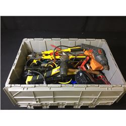 BIN OF ASSORTED HAND/POWER TOOLS