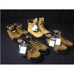 4 PAIRS OF COMFORT X5 WORK BOOTS - SIZE 8, 9, 10