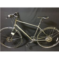 GREY NORCO INDIE 27 SPEED HYBRID BIKE WITH FULL DISC BRAKES
