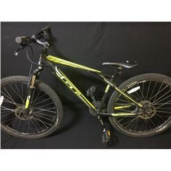 BLACK GT AGGRESSOR COMP 21 SPEED FRONT SUSPENSION MOUNTAIN BIKE WITH FULL DISC BRAKES
