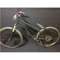 BLACK NS BIKES SINGLE SPEED FRONT SUSPENSION MOUNTAIN BIKE WITH FULL DISC BRAKES