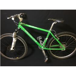 GREEN SPECIALIZED STUMPJUMPER 24 SPEED FRONT SUSPENSION MOUNTAIN BIKE WITH FRONT DISC BRAKES