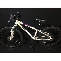 WHITE MEC ACE 21 SPEED FRONT SUSPENSION KIDS MOUNTAIN BIKE WITH FULL DISC BRAKES