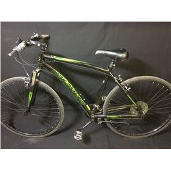 BLACK NAKAMURA 18 SPEED FRONT SUSPENSION MOUNTAIN BIKE
