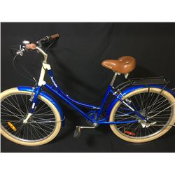 BLUE EVERYDAY KENSINGTON 6 SPEED EASY STEP MOUNTAIN BIKE