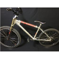 SILVER TRANSITION 27 SPEED FRONT SUSPENSION MOUNTAIN BIKE WITH REAR DISC BRAKES