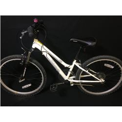 WHITE NAKAMURA PRISTINE 18 SPEED FRONT SUSPENSION KIDS MOUNTAIN BIKE