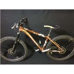 BROWN GARY FISHER PIRANHA 27 SPEED FRONT SUSPENSION MOUNTAIN BIKE WITH FULL DISC BRAKES