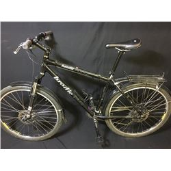 BLACK BRODIE BANDIT 24 SPEED FRONT SUSPENSION MOUNTAIN BIKE WITH FULL DISC BRAKES