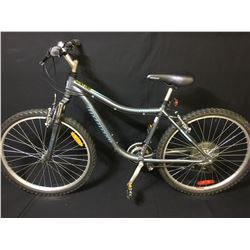 GREY INFINITY MERIDIAN ONE 21 SPEED FRONT SUSPENSION MOUNTAIN BIKE
