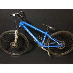 BLUE CANNONDALE CAFFEINE 24 SPEED FRONT SUSPENSION MOUNTAIN BIKE WITH FULL DISC BRAKES