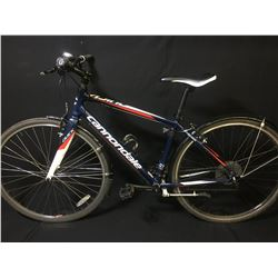 BLUE CANNONDALE QUICK 27 SPEED HYBRID BIKE