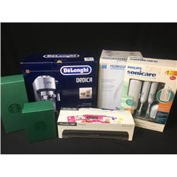 DELONGHI DEDICA ESPRESSO MAKER, PHILLIPS ELECTRIC TOOTH BRUSHES, COFFEE CUPS & MORE