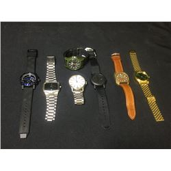 BAG OF ASSORTED BURBERRY, NIXON & TIMEX WATCHES
