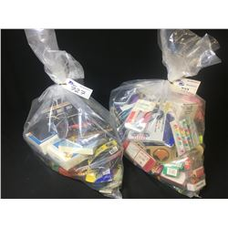 (2) BAGS OF ASSORTED HOUSEHOLD ITEMS