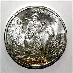 1oz silver round with Nuggets