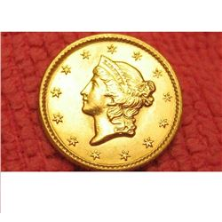1849 $1.00 type 1 gold coin