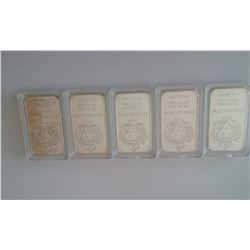 5 Scottsdale silver bars !!!