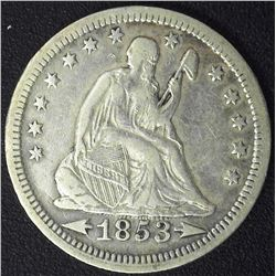 1853 Arrows & Rays Quarter