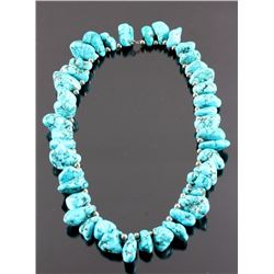 Navajo Turquoise Nugget Necklace
