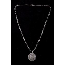 French 1785 Peace Medal Necklace from Woodlands