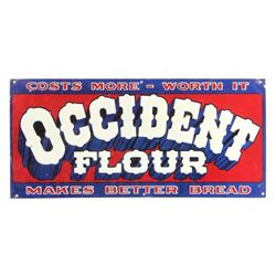 Original Occident Flour Advertising Sign