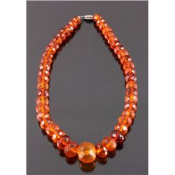 Faceted Genuine Amber Necklace
