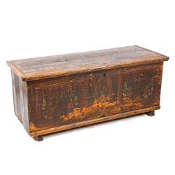 Large Early Eastern European Painted Trunk
