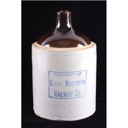 Great Northern Railway Whiskey Crock Jug