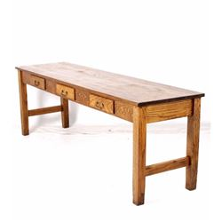 Large Golden Oak Library Table