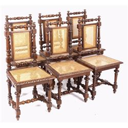 Colonial Wicker & Hand Turned Chairs Early 1900's