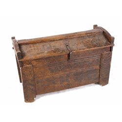 Early Hand Carved Wood Chest