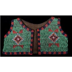 Black Feet Indians Beaded Child's Vest