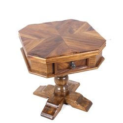 Mahogany Single Drawer Parlor Table