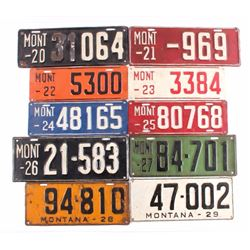 1920's Montana License Plate Collection
