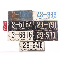 1940's Montana Prison License Plate Collection