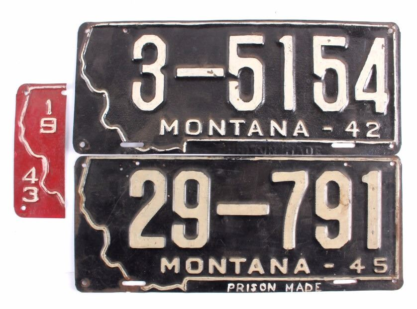 Image 3 1940s Montana Prison License Plate Collection