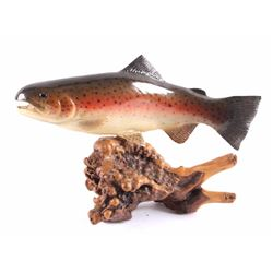 Bob Berry Carved Wooden Rainbow Trout