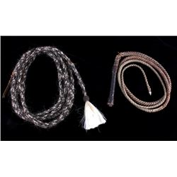 Montana Braided Horsehair Rope & Leather Bullwhip