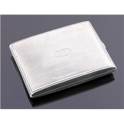 William Kerr Sterling Silver Cigarette Case