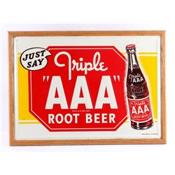 Original Triple AAA Root Beer Advertising Sign