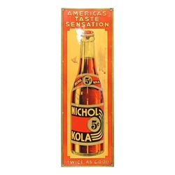 Early Nichol Kola Advertising Sign 1920's